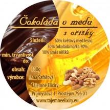 Čokoláda v medu s oříšky 330g