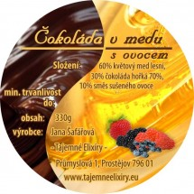 Čokoláda v medu s ovocem 330g