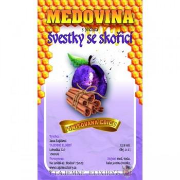 Medovina Švestky se skořicí 0,5l